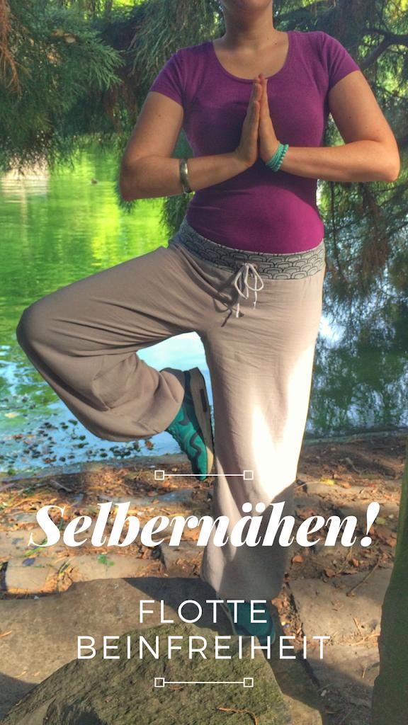 Flotte Beinfreiheit - Yogahose aus Leinen