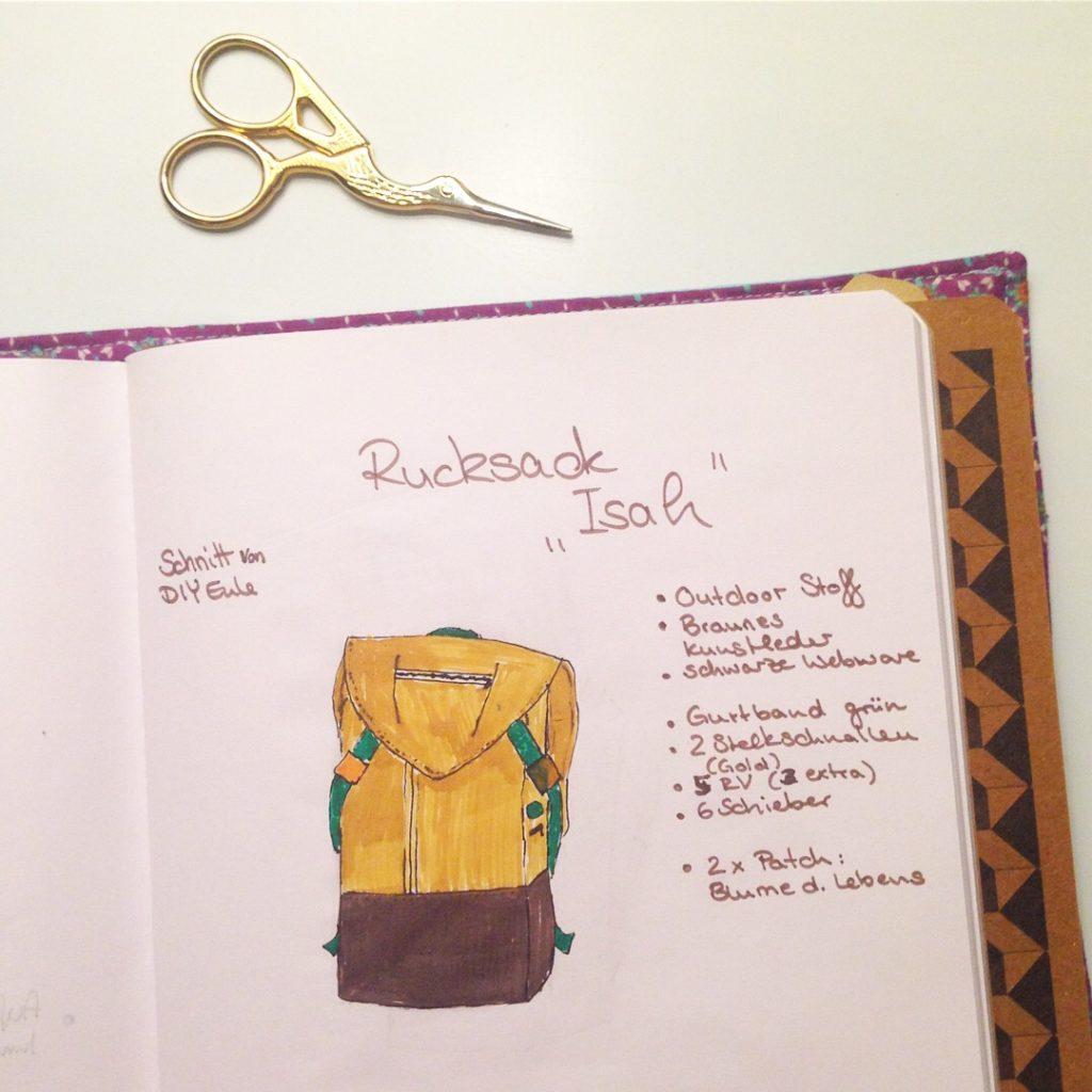 NähBuJo KathieKreativ - Bullet Journal zum Thema nähen - Organize Schnittmuster - Ordnung im Nähzimmer