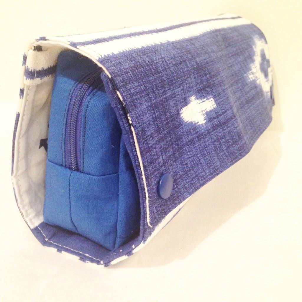 RollUp Tasche - KathieKreativ mit Wal Stickmuster