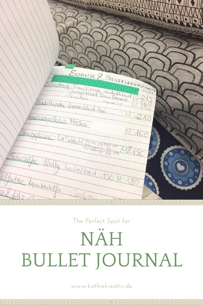 NähBuJo KathieKreativ • Näh Bullet Journal • Organisiert beim Nähen • Tipps zur Organisation