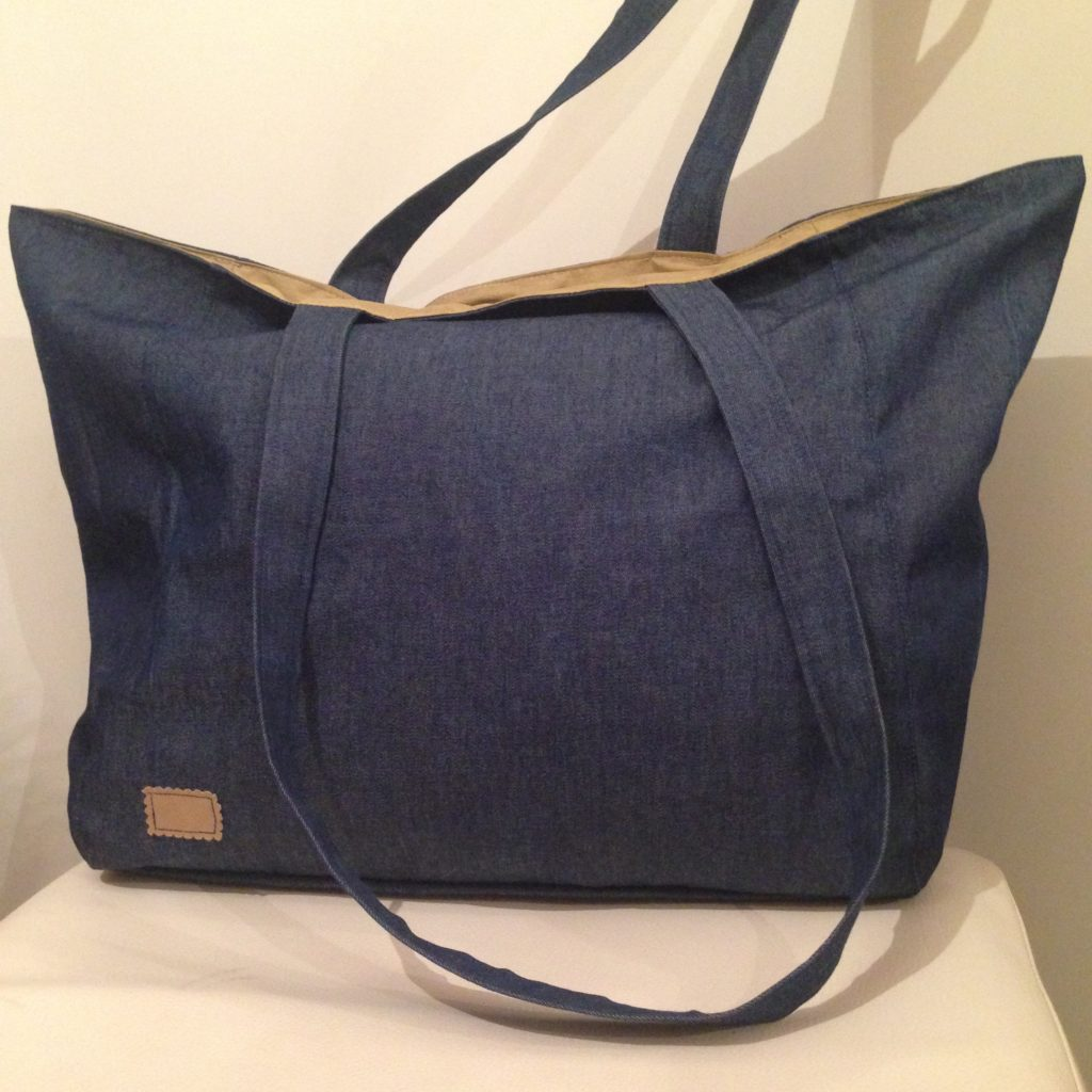 Jeans Shopper + Outdoorstoff - KathieKreativ