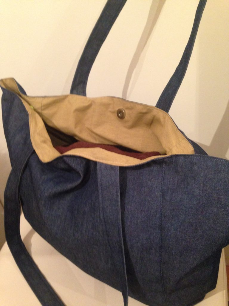 Jeans Shopper + Outdoorstoff - KathieKreativ