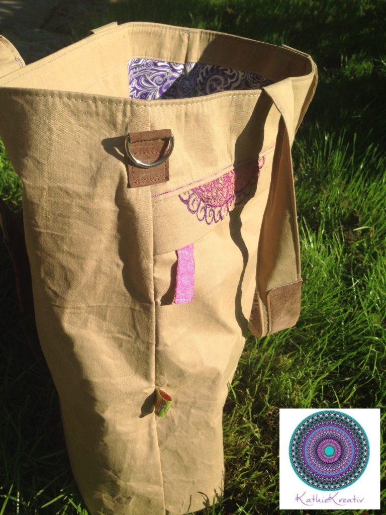 Yellobag aus Outdoorstoff • wasserabweisend • nähen und sticken • KathieKreativ