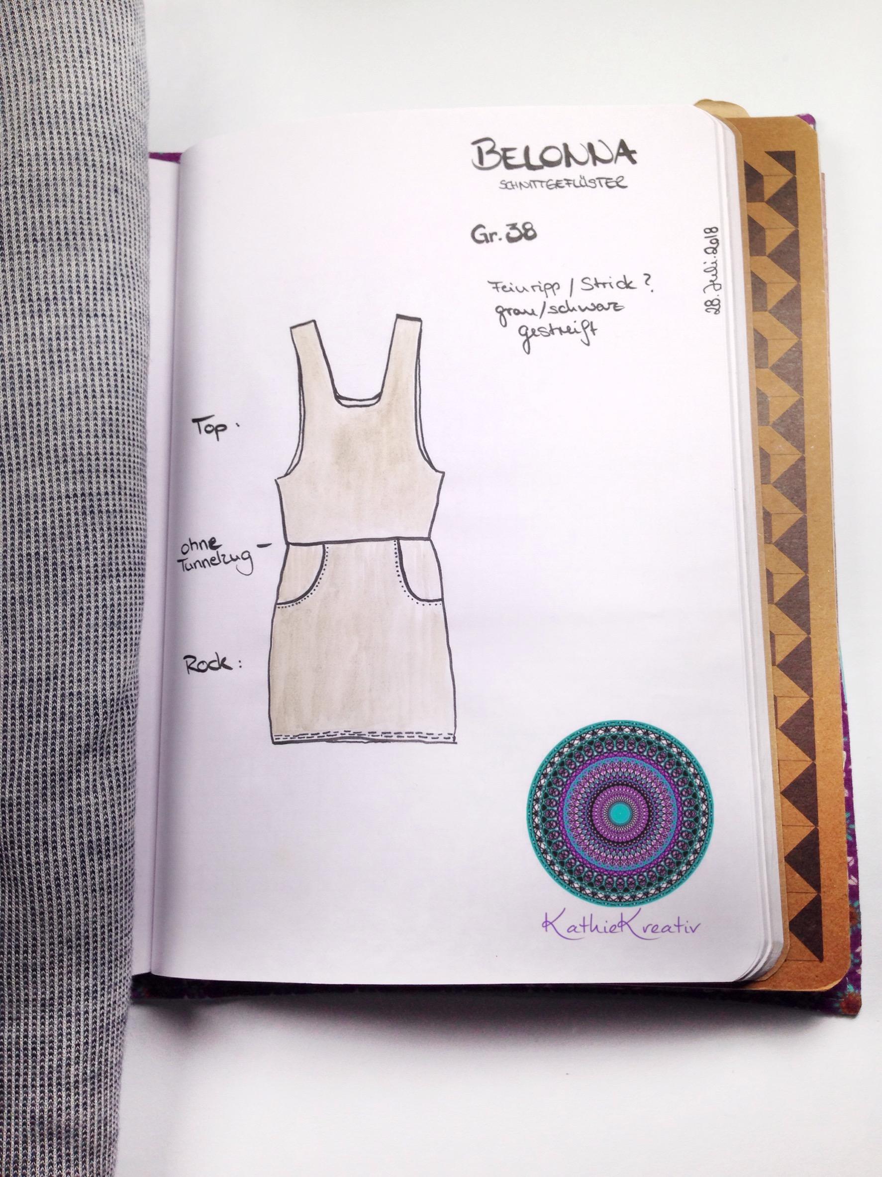NähBuJo : Latzkleid Belonna aus Feinstrick nähen • KathieKreativ • Nähen für Anfänger