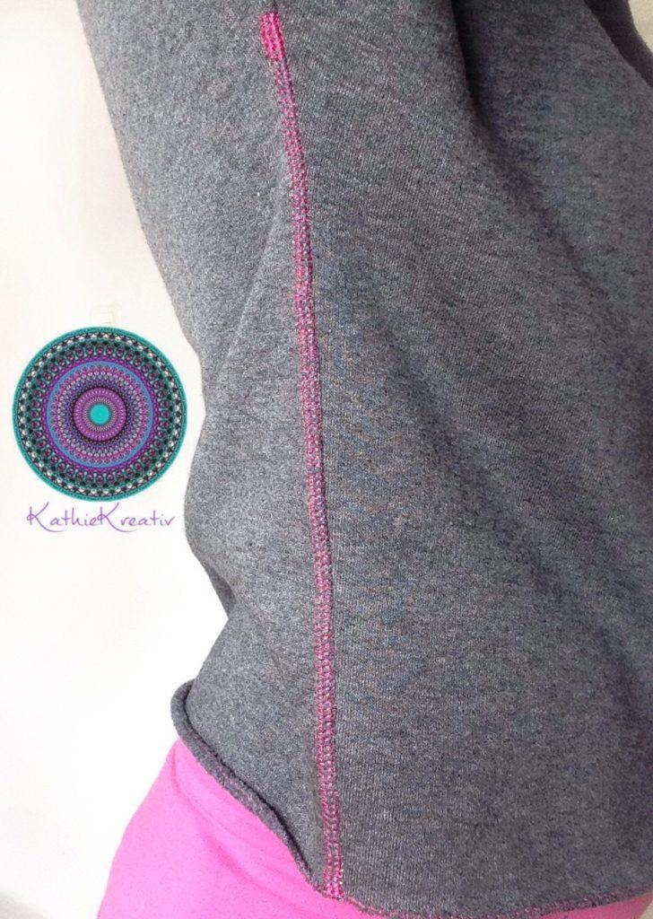 byAnne schnell zu nähen von KathieKreativ - Bestickt mit der Blume des Lebensund verziert mit Fake Coverlock Nähte