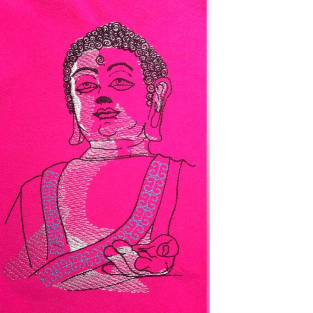 Mandala Meditationskissen nähen und sticken mit KathieKreativ Stickdatei