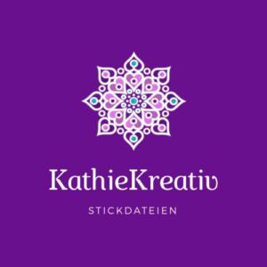 KathieKreativ Stickdateien Logo Lila