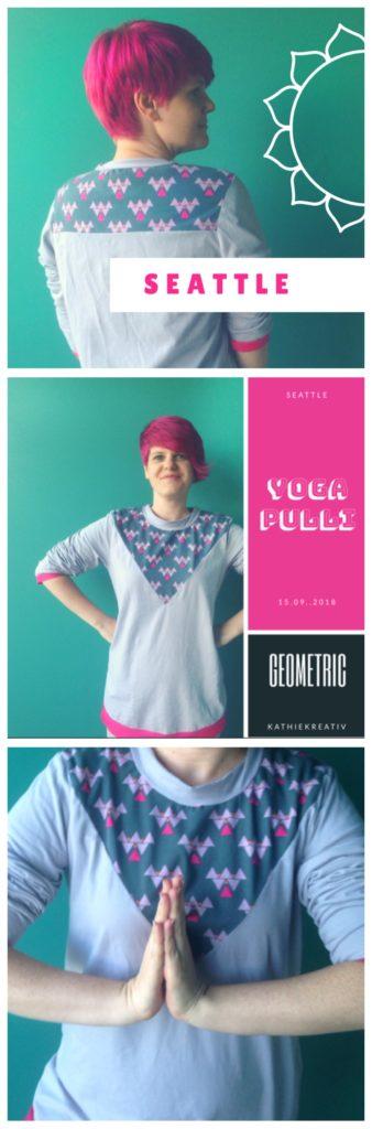 Yoga Pulli Seattle aus Stoffresten nähen mit KathieKreativ - mit einfachem Kragen - ohne Bünchen nähen - einfaches Bündchen - Nähen für Erwachsene Anfänger