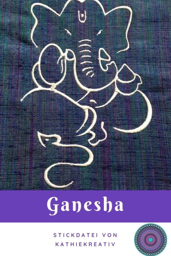 soo lange wollte ich mir eine Ganesha Beuteltasche nähen. Deshalb wollte ich immer #nähen können, jetzt kann ich nähen und da ist sie, die #Ganesha #Beuteltasche mit eigenst erstellter #Stickdatei bestickt