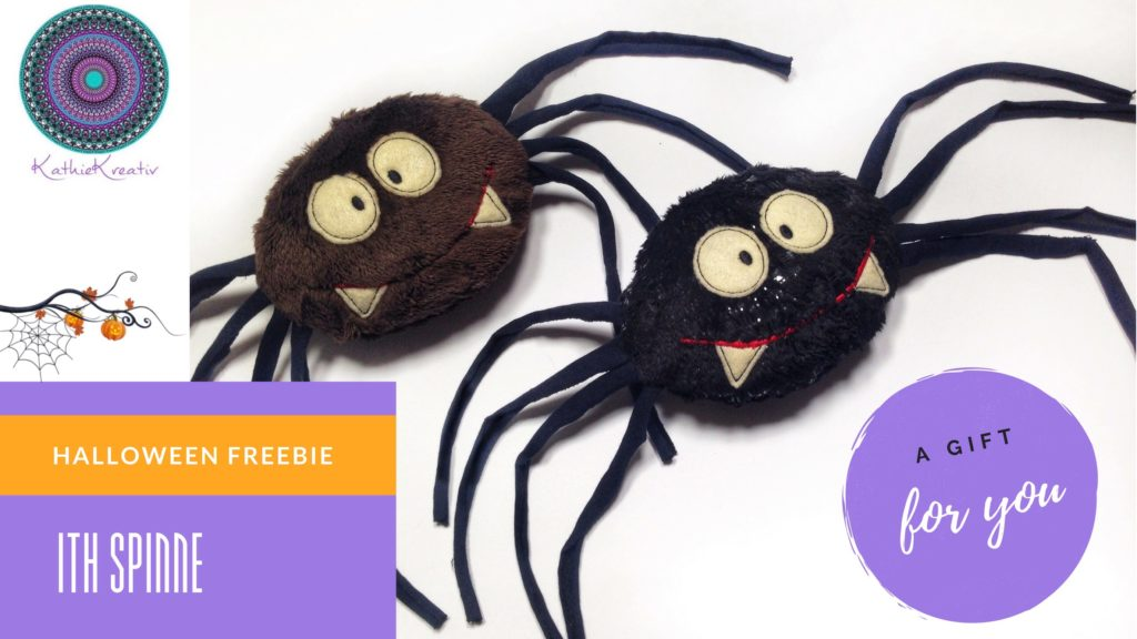Halloween Freebie ITH Spinne