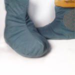Blume des Lebens - Kuschelpuschen - kuschelig warme Hausschuhe selber nähen mit #KathieKreativ ! #nähen#selbermachen#geschenk