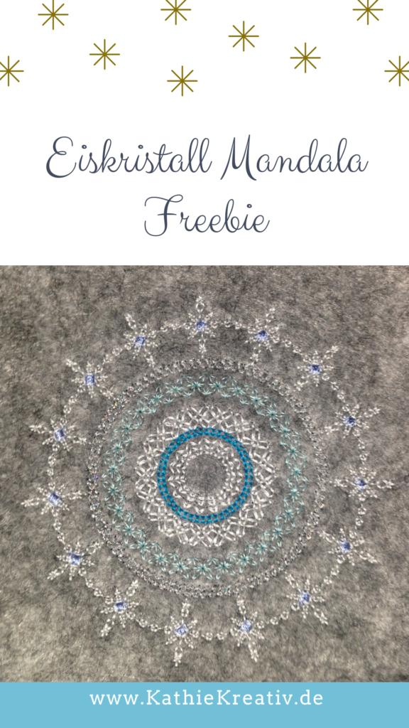 ❄️ Eiskristall Mandala Freebie von KathieKreativ