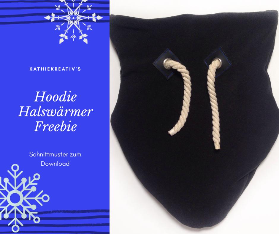 HoodieHalswärmer•KathieKreativ•Freebie Schnittmuster - schnelles Geschenk für Männner #nähen