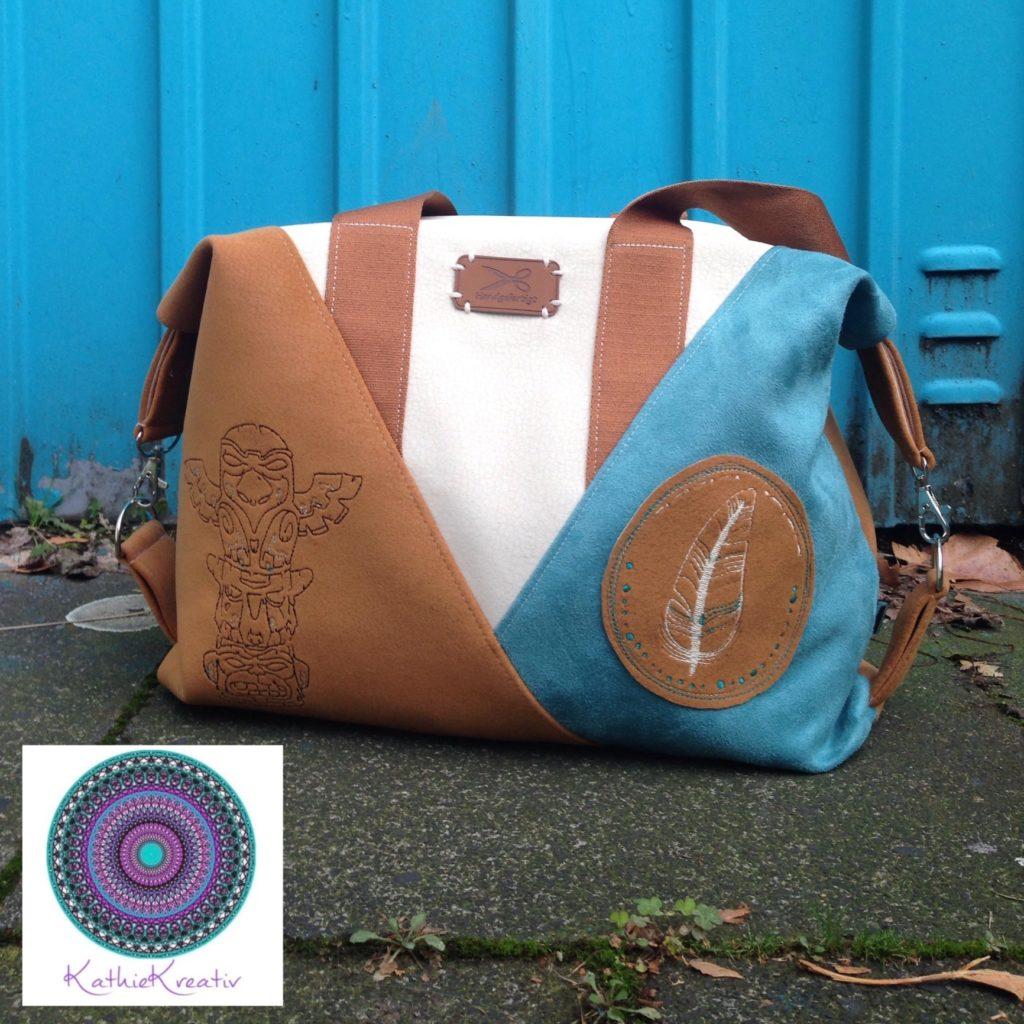 92e15b482f253 Ebook Tasche Leene mit KathieKreativ nähen - KathieKreativStickdatei  nähen   sticken
