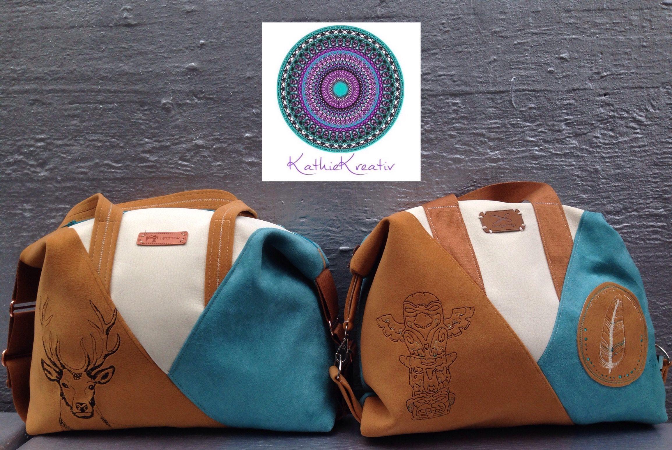 Ebook Tasche Leene mit KathieKreativ nähen - KathieKreativStickdatei #nähen #sticken