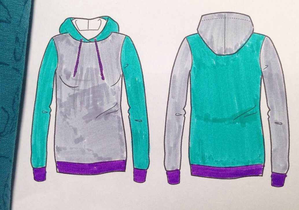 Mix and Match Hoodie - KathieKreativ