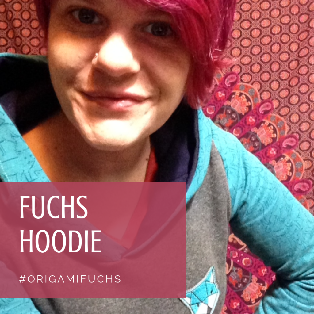 Mix and Match Hoodie mit Origami Fuchs Patch - KathieKreativ