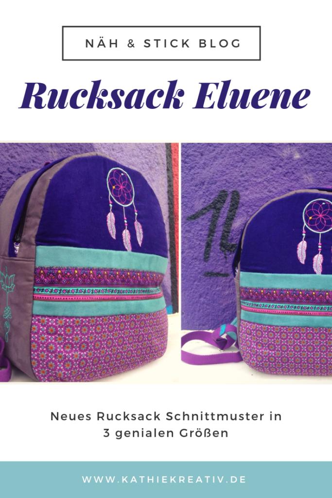 Boho Rucksack Eluene nähen mit #KathieKreativ #Stickdatei