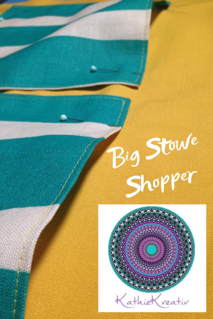 Big Stowe Shopper - #noplastik Make me Take me Taschen nähen #zerowaste