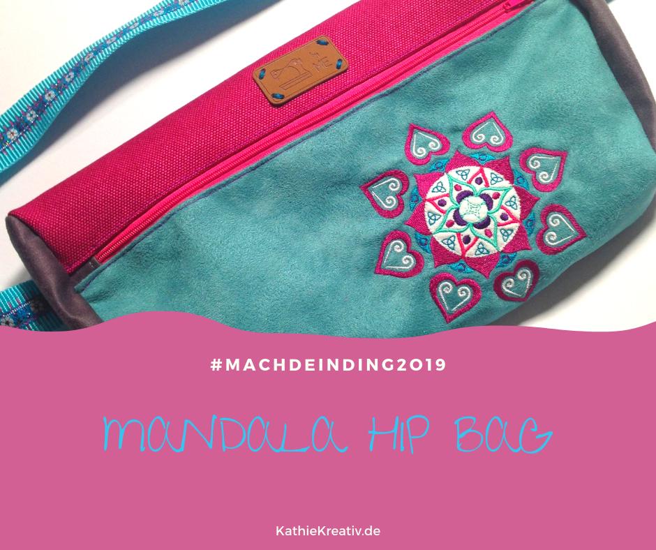 KathieKreativ Stickdateien (Mandala10) Hippie HipBag #MachDeinDing2019