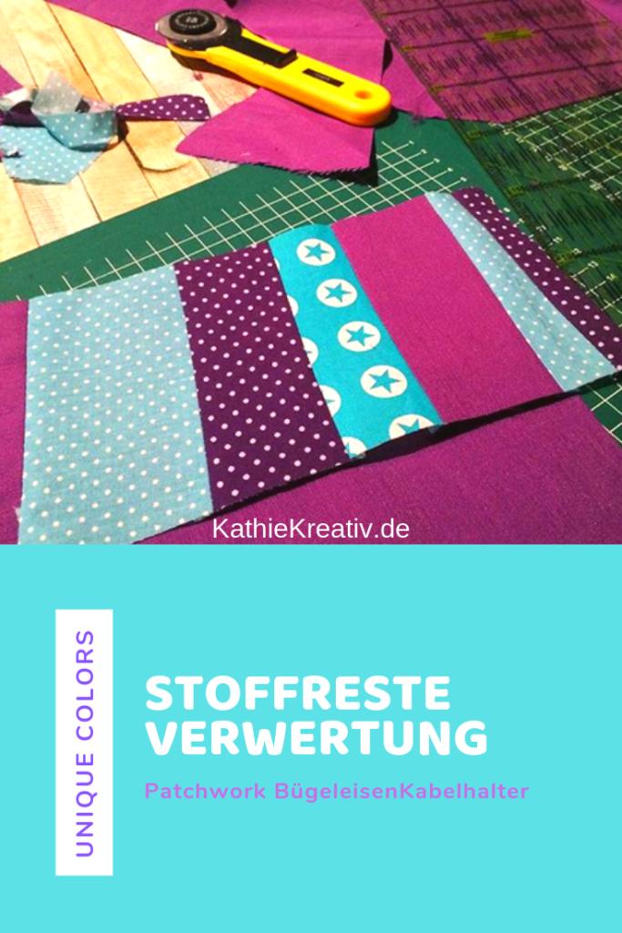Kathiekreativ.de näht Zerowaste - Stoffreste Verwertung und Bügeleisenkabelhalter nähen