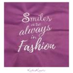 Smiles are always in Fashion Stickdatei Freebie
