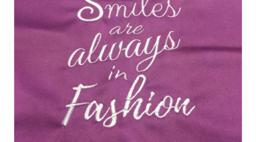 Smiles are always in Fashion Stickdatei Freebie