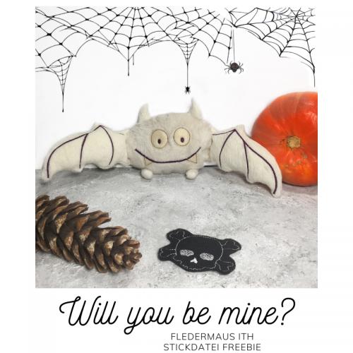 Freebie Halloween ITH Fledermaus
