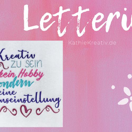 Lettering Stickdatei + HandHerzen