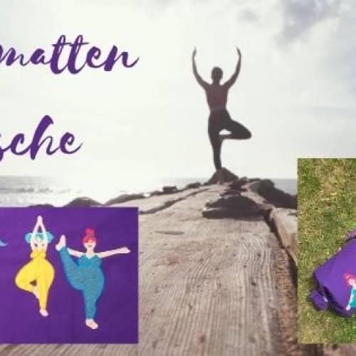 Yoga Damen Stickdateien auf Yogamatten Tasche
