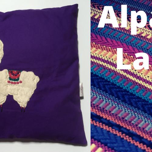 Alpaka Lady Kissen + Mandala Stickdatei