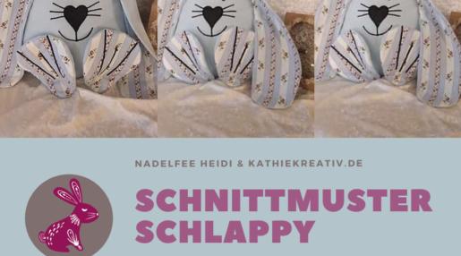 Hase Schlappy Schnittmuster + Stickdatei Gesichter zum sticken von KathieKreativ -4