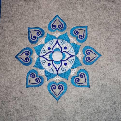 Mandala Stickdatei für große Stickrahmen
