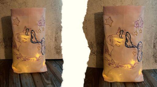 KathieKreativ Stickdatei Einhorn Antje sticken Windlicht nähen Freebie kostenlosen Schnittmuster Nähanleitung